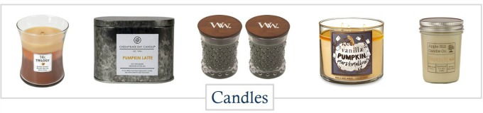 Candles for your autumn home decorating