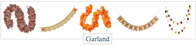 Fall Home decor garland from Amazon
