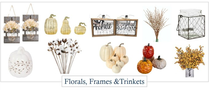 Autumn and Fall trinkets and accessories for decorating your home