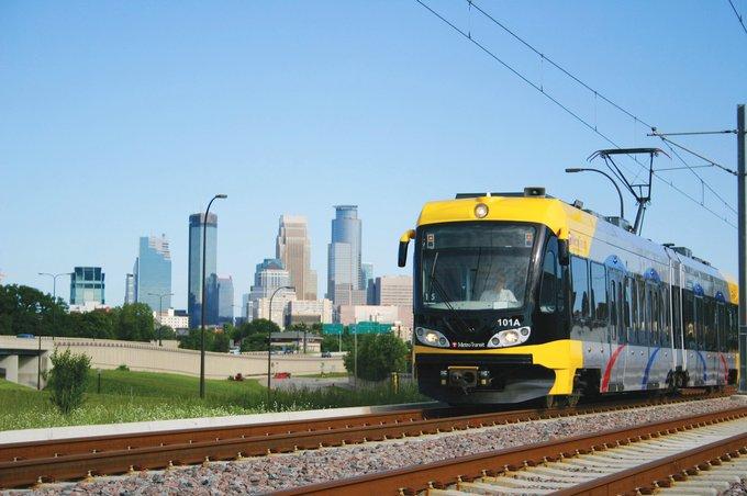 Minneapolis Light Rail Train