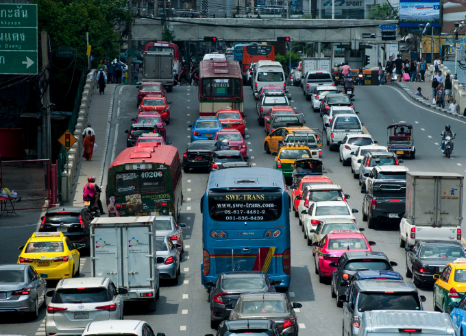Cars on the highway in China
