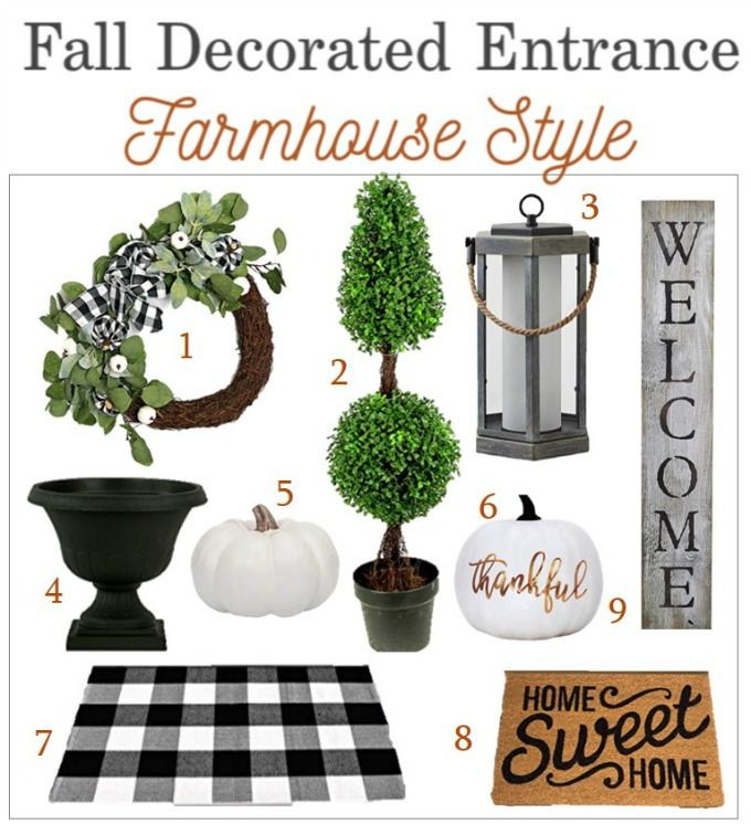 Fall buffalo plaid farmhouse decor pieces
