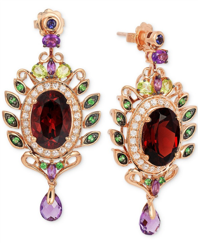 Le Vian Crazy Collection Garnet Drop Earrings