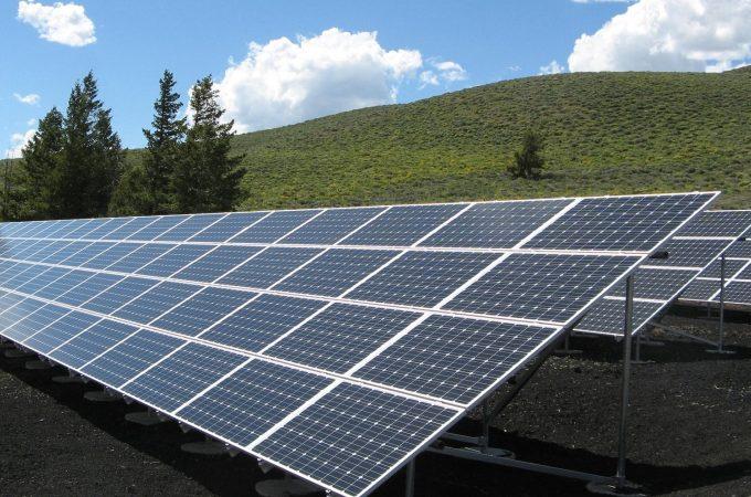 solar panel field
