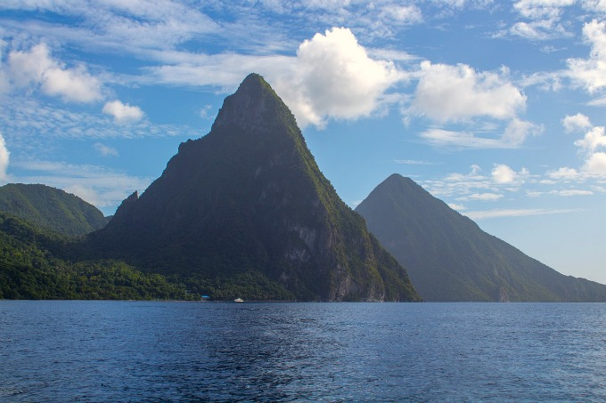St Lucia Pitons Mountains