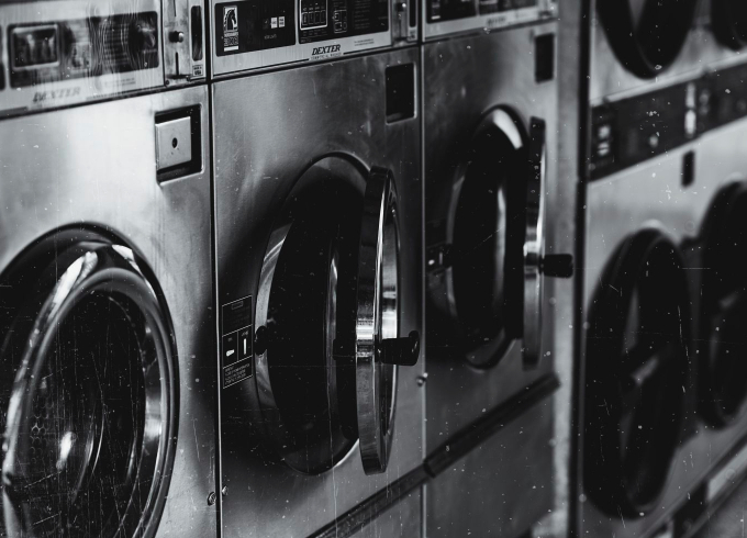 washers at the laundromat