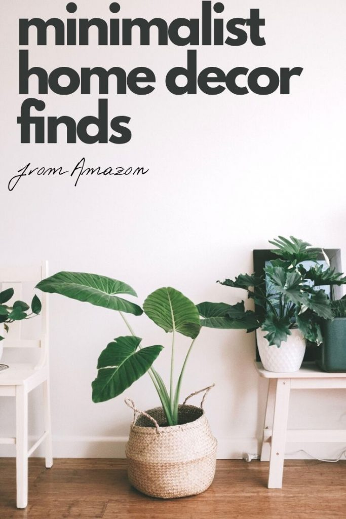 20 amazing Minimalist home decor finds from Amazon. Great fro open concept or loft living. Plus, most have free prime shipping, too.