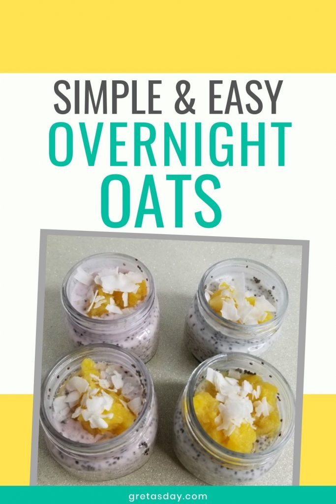 Simple and easy overnight oats recipe that's perfect for breakfast or a healthy snack.
