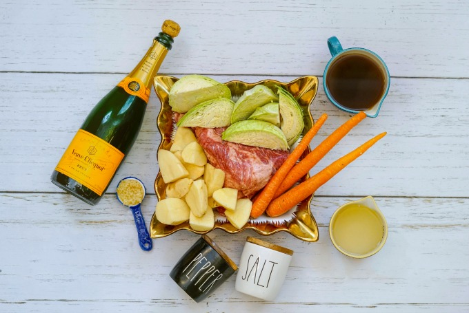 slow cooker corned beef with champagne recipe ingredients