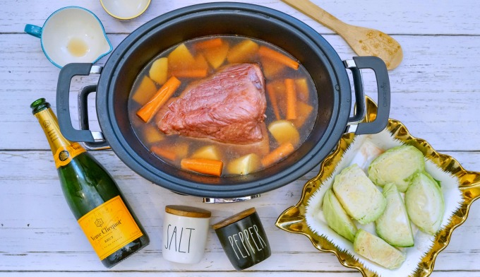 champagne corned beef in crockpot