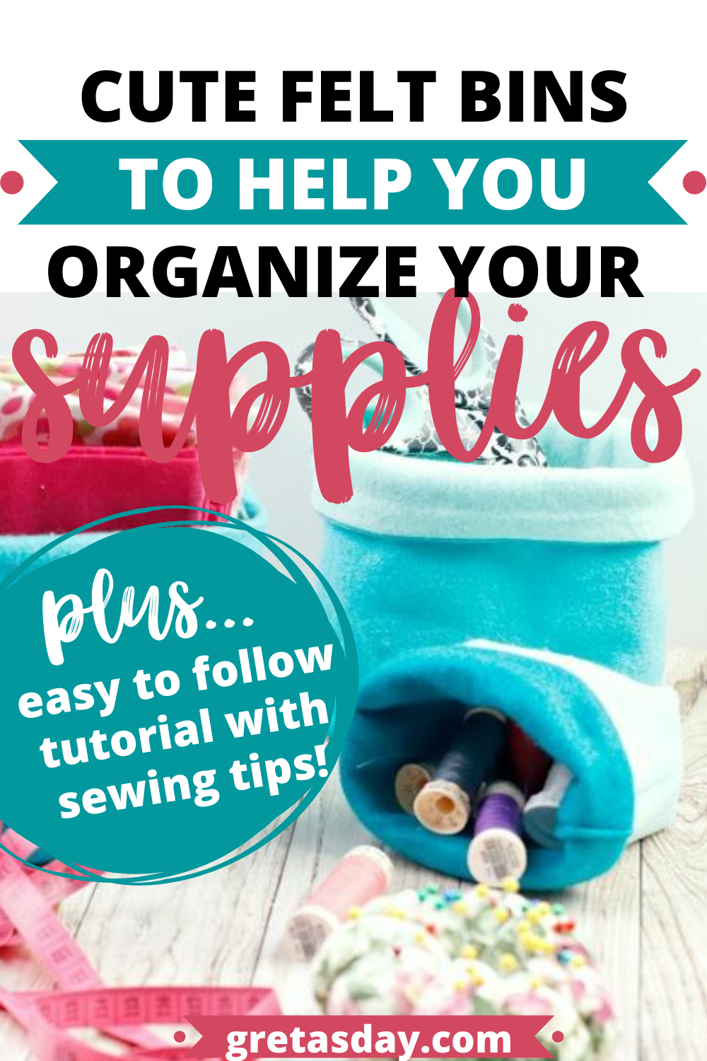 Learn how to make felt storage buckets. Easy to follow tutorial.