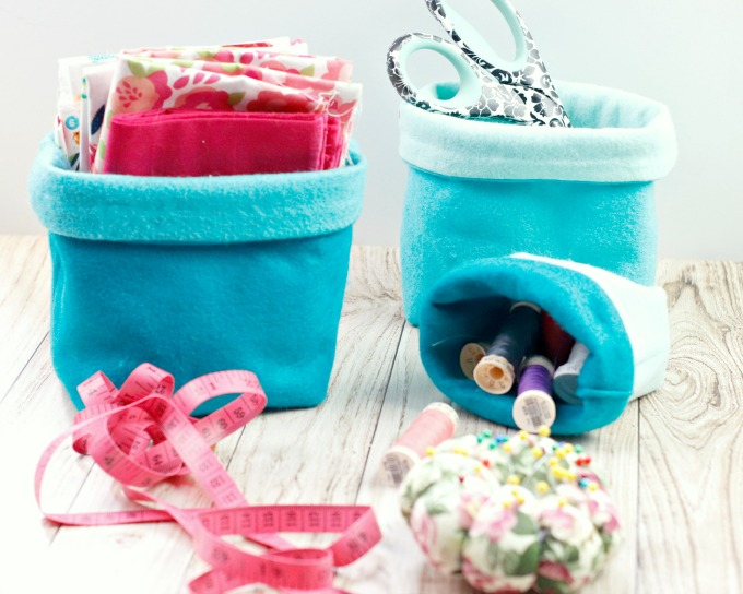 DIY Felt baskets to sew tutorial
