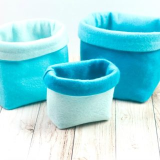 How to make sewn felt baskets tutorial