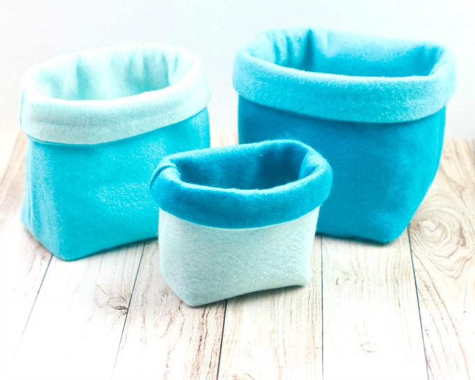 How to make sewn felt baskets tutorial