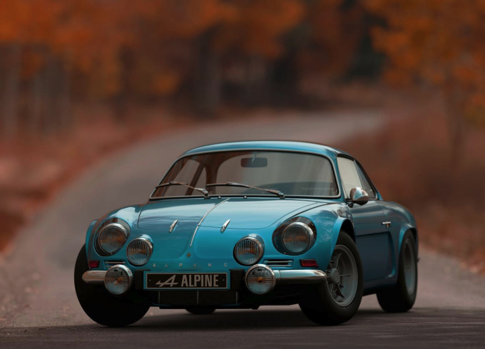 vintage alpine car