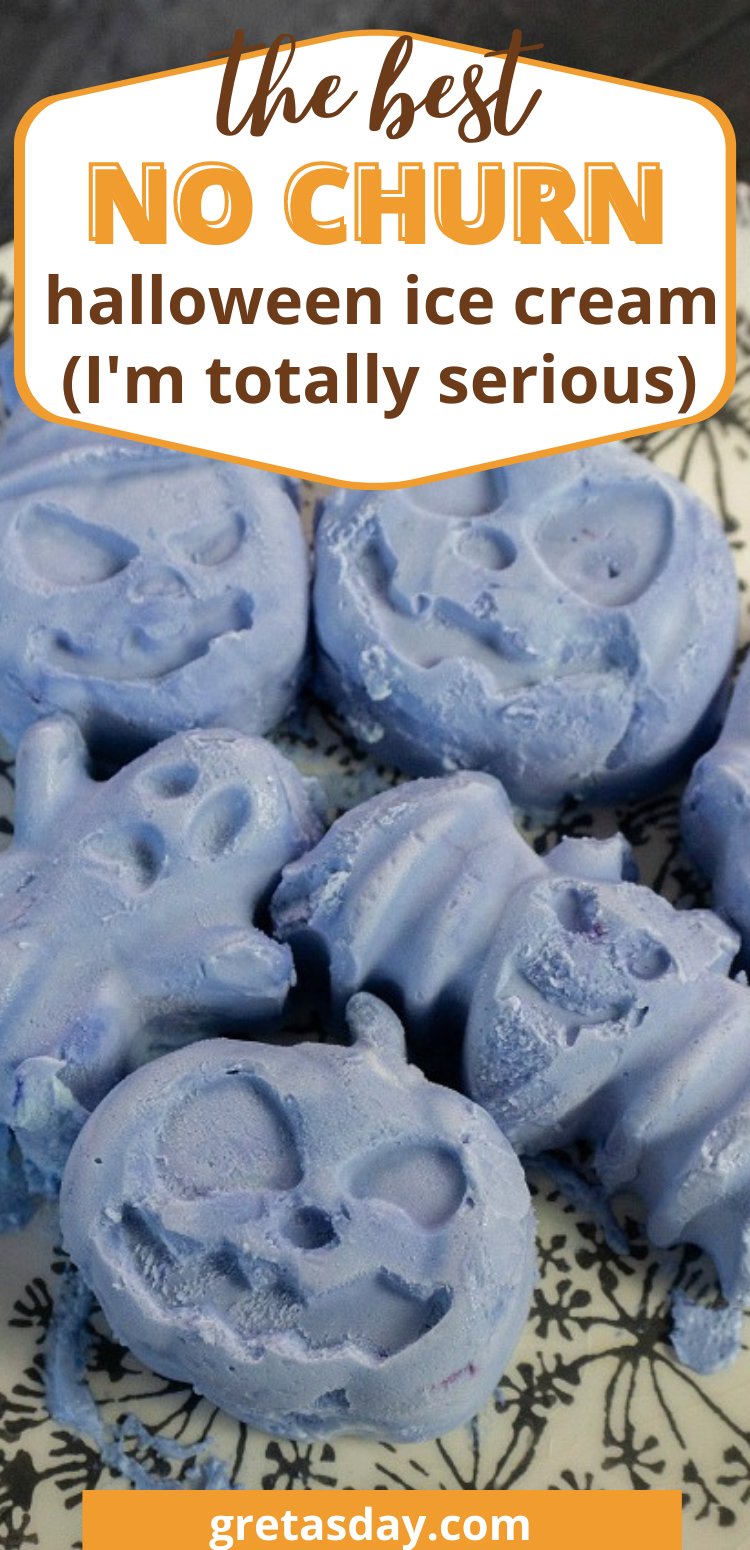 How to make delicious no churn Halloween Ice Cream treats.