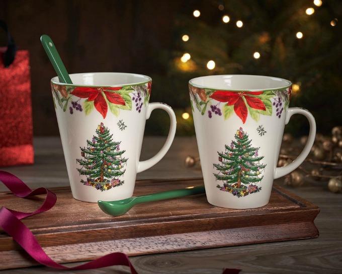 Spode 2020 Christmas mug and spoon set
