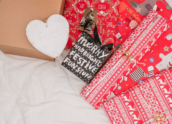 fair isle wrapped packages