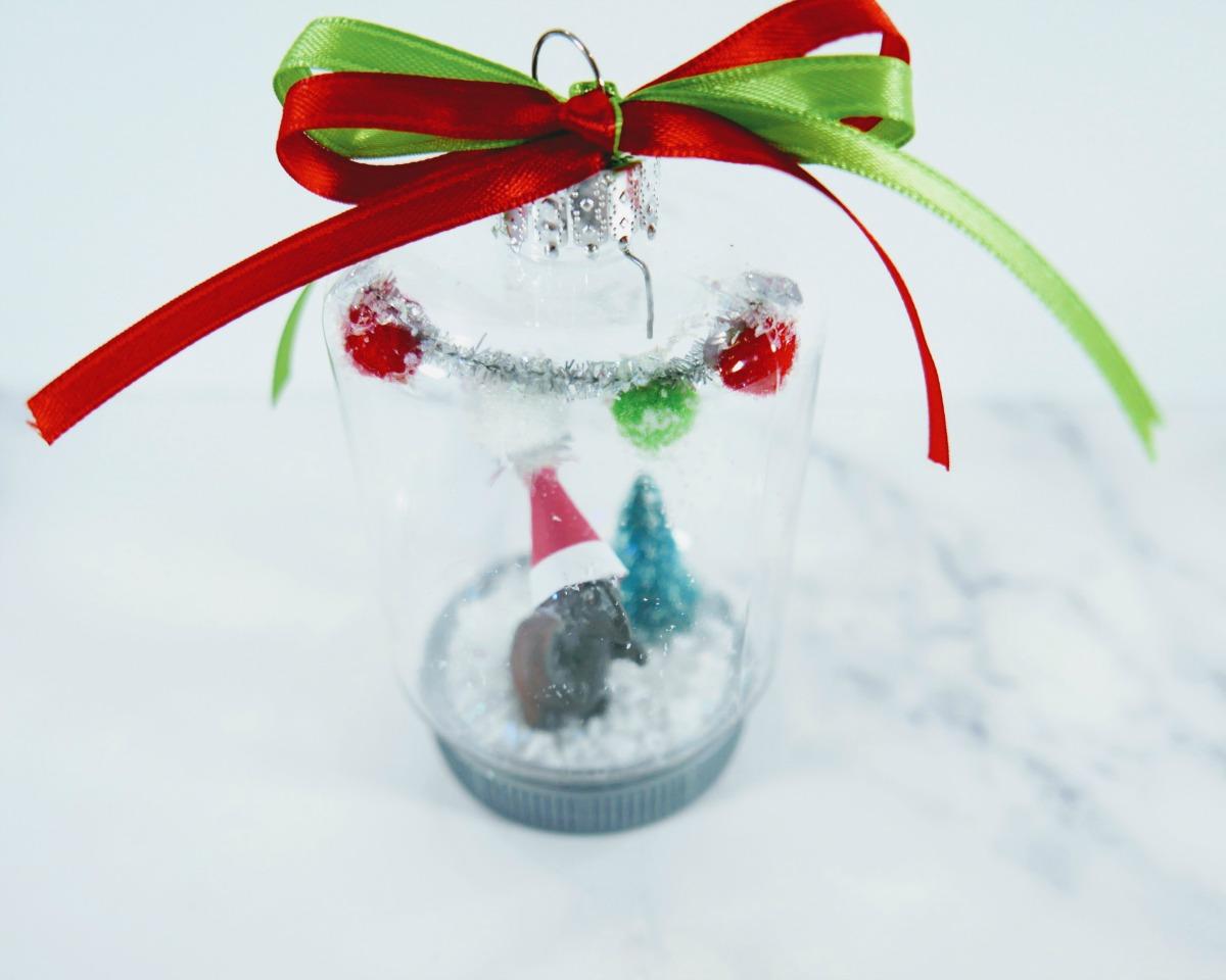 DIY Santa Dinosaur Christmas Ornament
