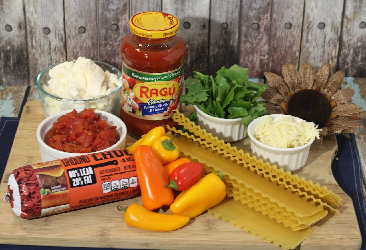 ingredients needed for recipe sitting on a wooden butcher block