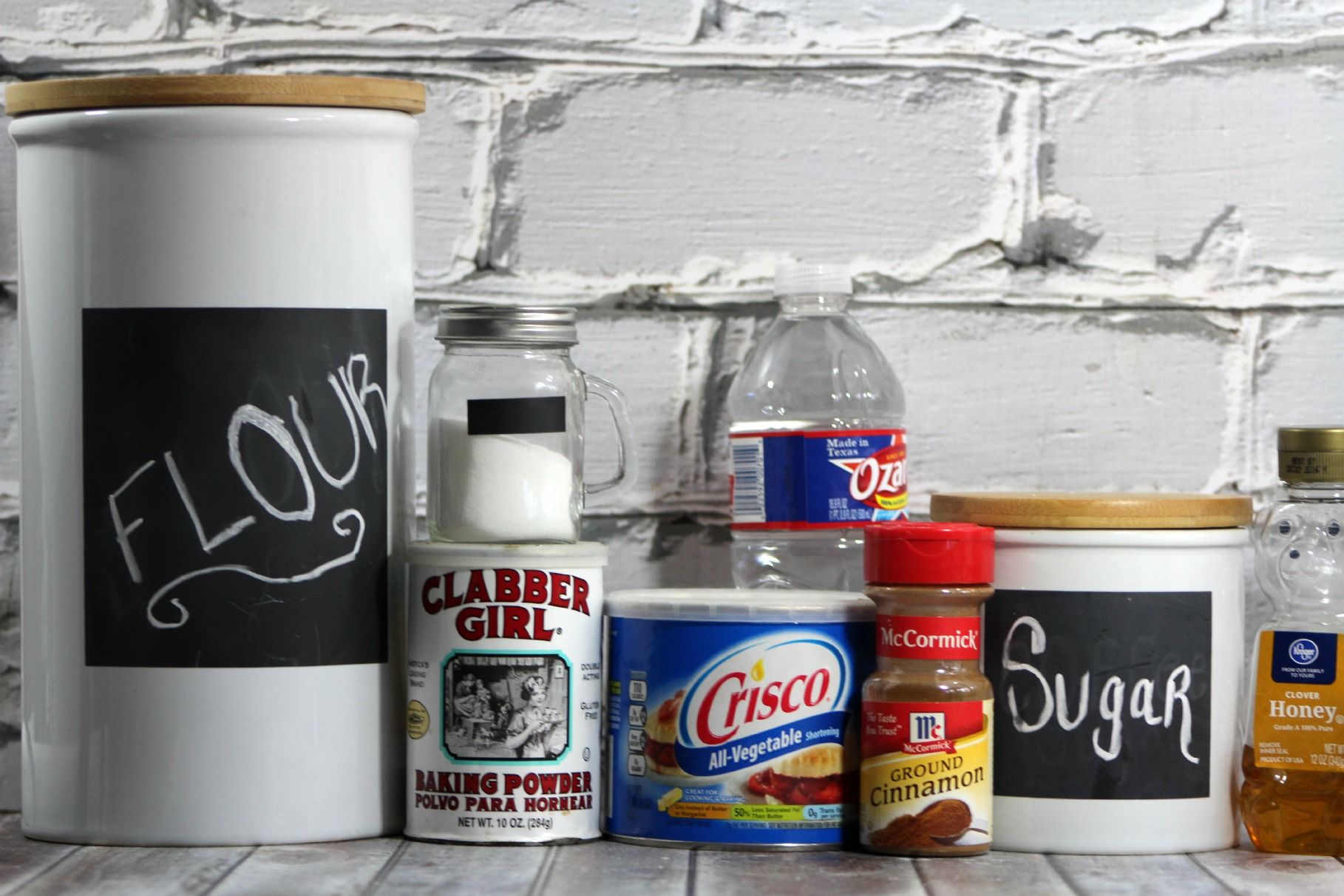 ingredients for recipe sitting on a counter