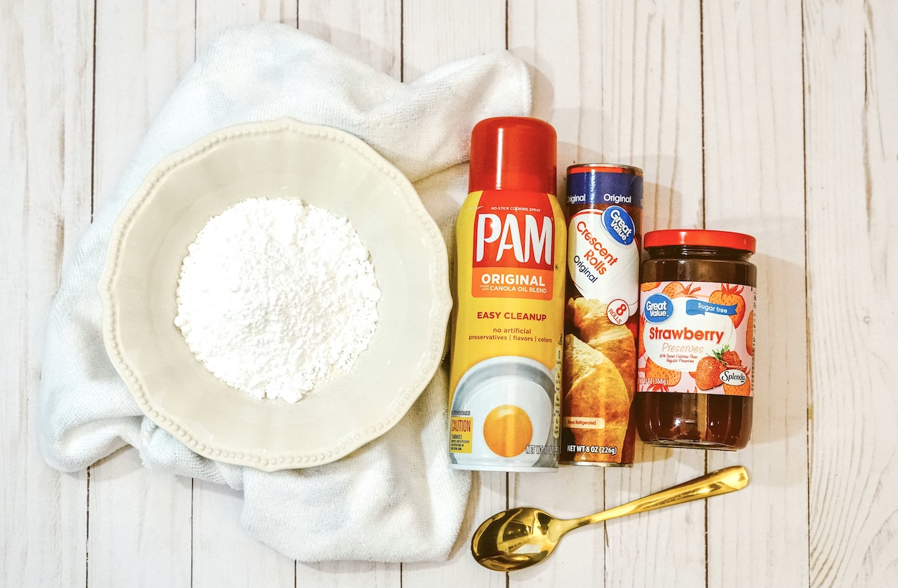 ingredients needed for recipe laying on a wooden table