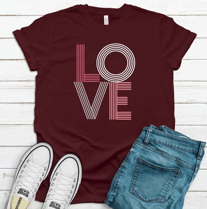 Jade and Harlow LOVE tee shirt
