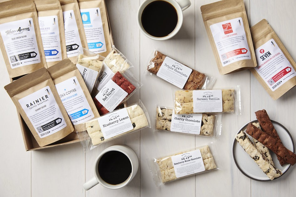 Beanbox Biscotti and Coffee Deluxe Sampler