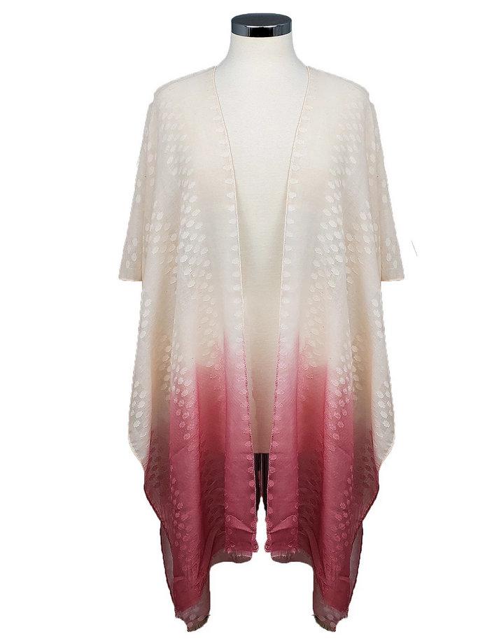 Marcus Adler Dip Dye Ruana Kimono coverup