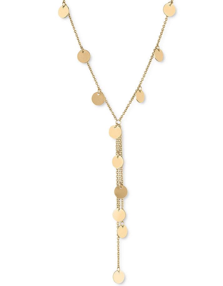 Rachel rachel roy gold disc lariat necklace