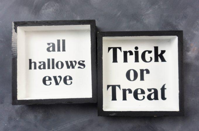 Halloween Shadow Box tutorial for Cricut