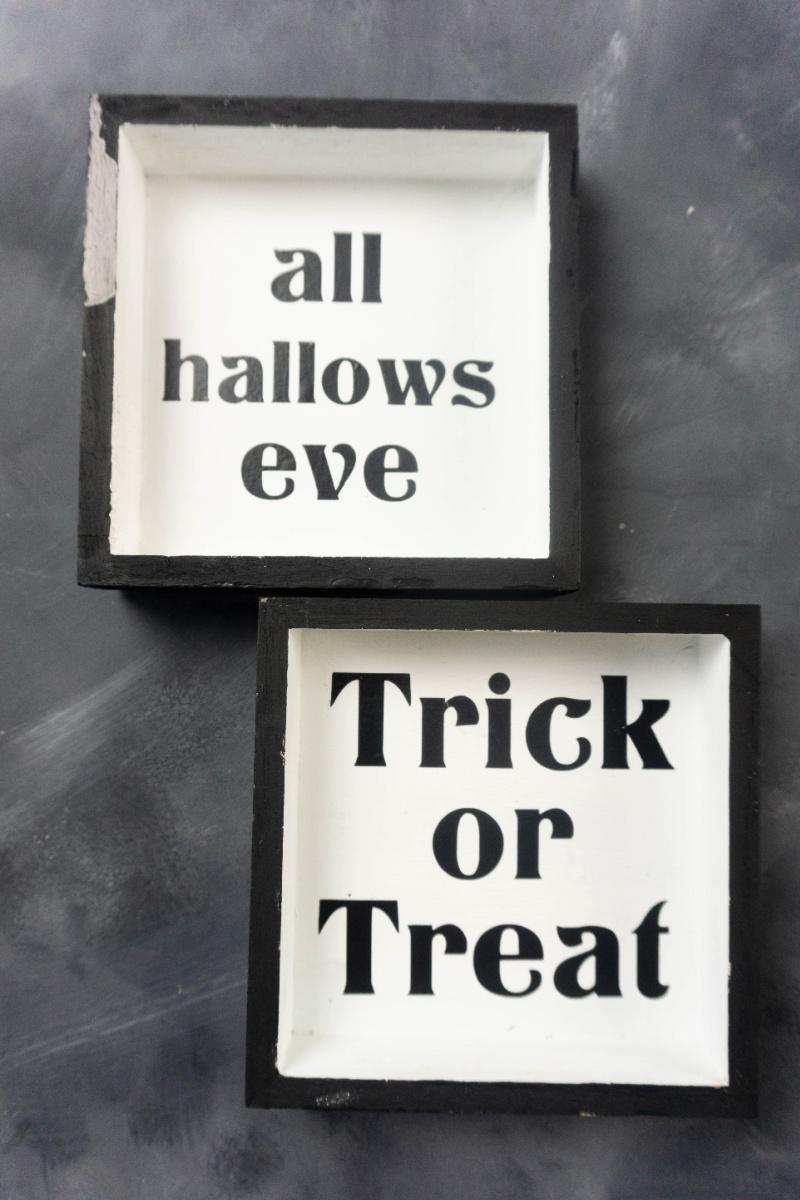 Halloween shadow boxes tutorial for cricut