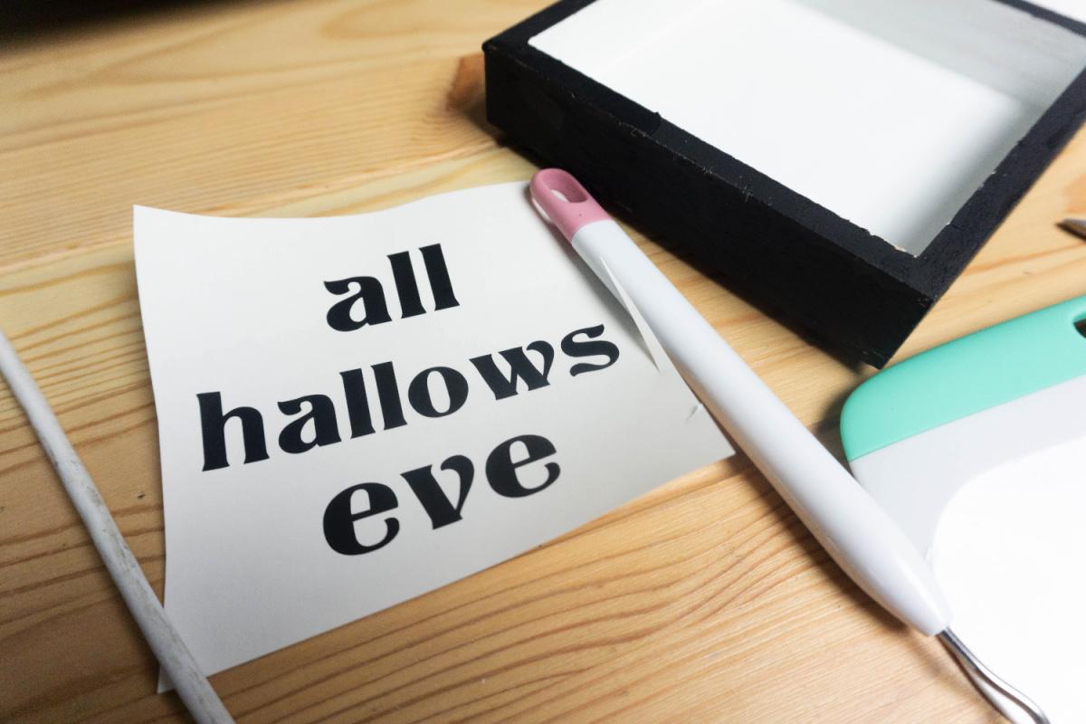 How to make Halloween Shadow Box with a Farmhouse feel